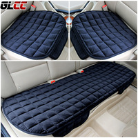 3Pcs/Set Car Supplies Square Style Luxurious Comfortable Car Seat Cover Cushion Universal Front&Rear Seat Covers Car Chair Pad