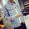 Good Quality England Style Men's Denim Jacket Men Coats Outwear Vintage Slim Jackets Plus Size M-4XL 5XL Light blue #926