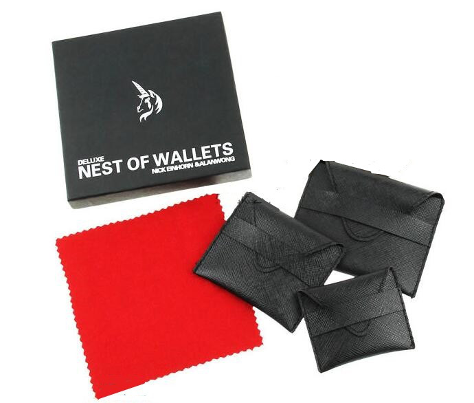 Deluxe Nest Of Wallets (Nesting Wallets) By Nick Einhorn-Magic Trick,Accessories,Fire,Mentalism,Stage,Close Up,Fun,Magia ToysDeluxe Nest Of Wallets (Nesting Wallets) By Nick Einhorn-Magic Trick,Accessories,Fire,Mentalism,Stage,Close Up,Fun,Magia Toys