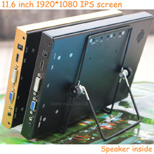 11.6 inch 1920*1080 1080p HD screen monitor IPS HDMI/VGA/DVI driver for Raspberry pi banana pi XBOX PS3 PS4 game display monitor