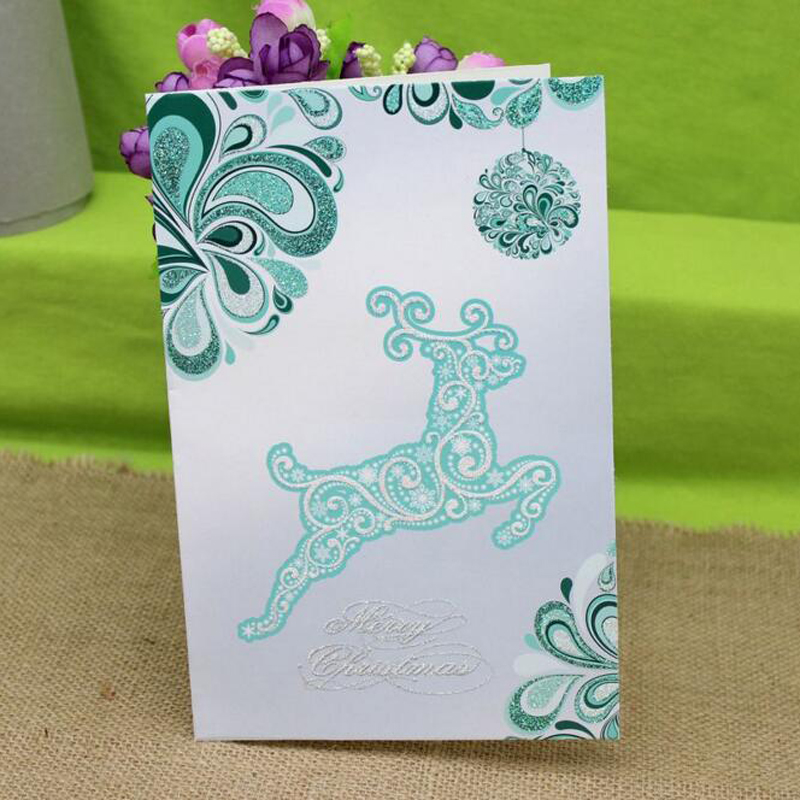 8 pieces/set)Latest Design High End Business Greeting Cards Merry ...