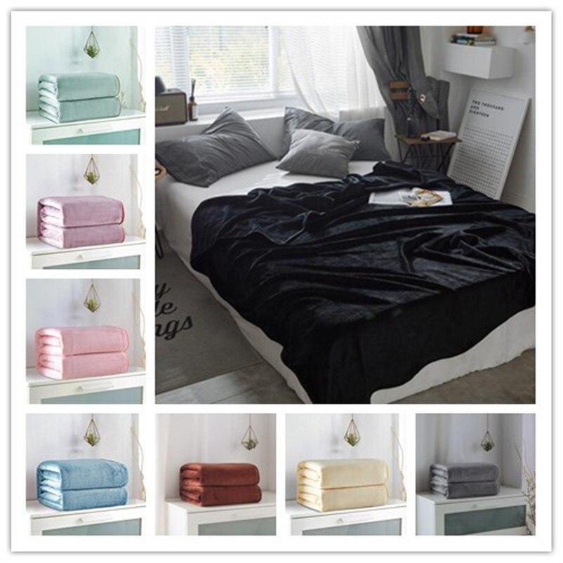 Bed optimizer solid Raschel anti-pilling warm blanket travel blanket sleep blanket bedspread blanket