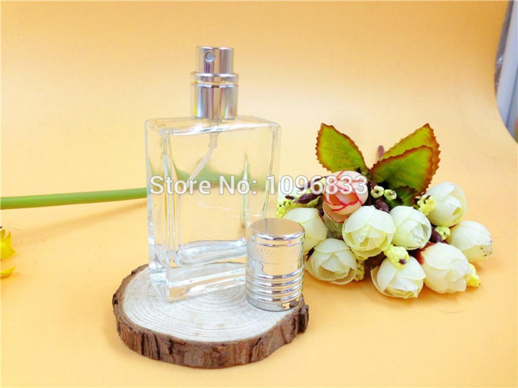 30 ML 30CC Vidro Perfume Atomizer Frasco de Prata Tampa, Fragrância - Ferramenta de cuidados com a pele
