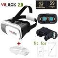 Google óculos de realidade virtual 3d inteligente controle remoto sem fio bluetooth gamepad caixa de papelão vr para iphone7 samsung galaxy s7