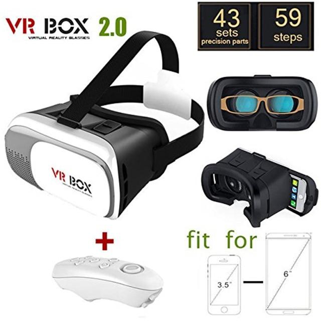 Google Виртуальная Реальность 3D Очки Smart Wireless Bluetooth Remote Control Геймпад Картон VR Коробка для iphone7 SAMSUNG Galaxy S7