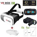 Google Virtual Reality 3D Glasses Smart Wireless Bluetooth Remote Control Gamepad Cardboard VR Box for iphone7 SAMSUNG Galaxy S7