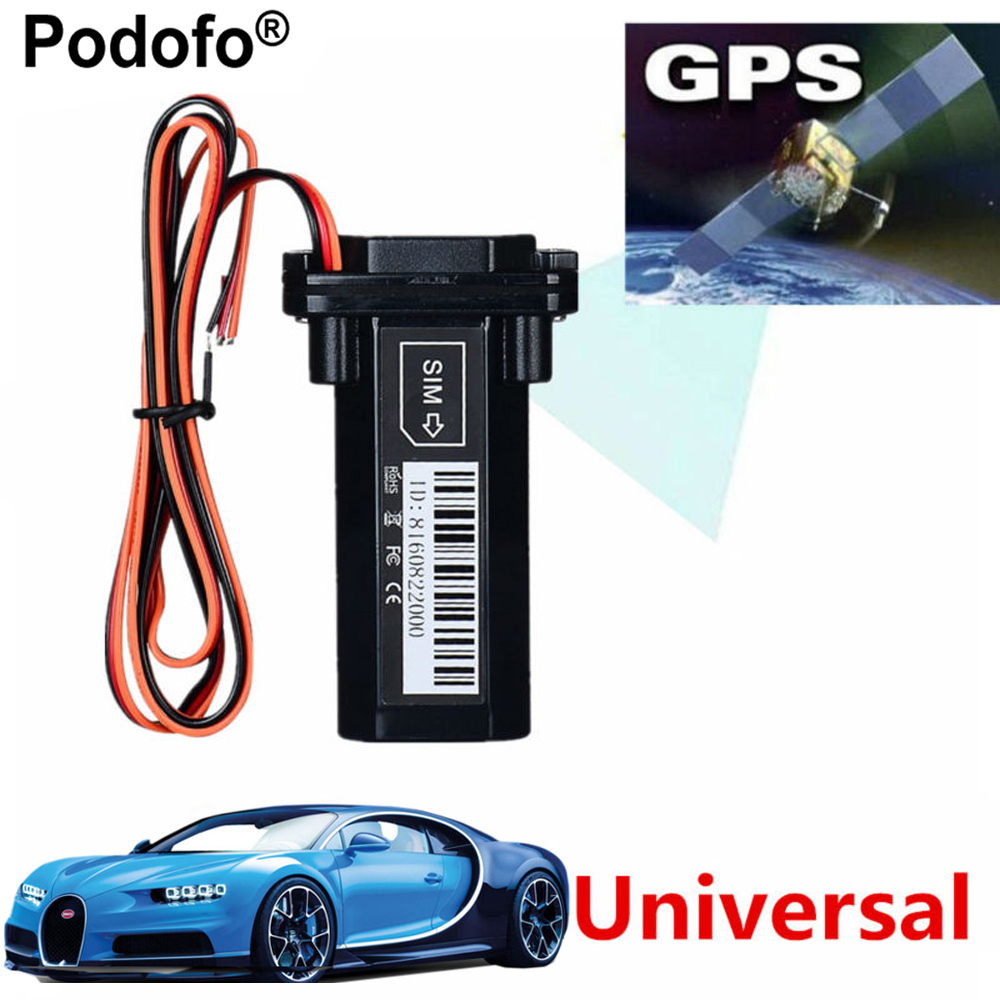 Podofo Newest Mini GPS Tracker Vehicle Tracking Device Motorcycle Car GSM SMS locator with Real Time Tracking System Built-in
