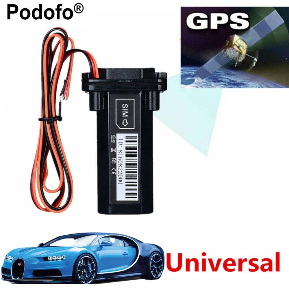 Podofo más nuevo Mini GPS Tracker vehículo seguimiento dispositivo motocicleta coche GSM SMS localizador con sistema de seguimiento en tiempo Real incorporado