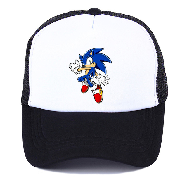 game animation Sonic The Hedgehog Hat Cap women youth Baseball Cap Cool  Summer Mesh Net Trucker Cap Hat for Men Trucker fc8a4bd0e917