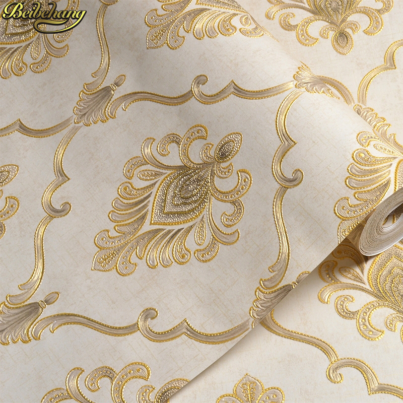 beibehang papel parede 3D Embossed Damascus wallpaper for walls 3 d wall papers home decor living room decoration contact paper sexy beauty wallpaper for walls 3 d living room papel contact hotel wall covering murals 3d flooring wall paper home decor