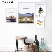 Mountain Road Landscape Wall Art Canvas Painting Nordic Posters Minimalist Prints Scandinavian Decoration Pictures Home Decor
