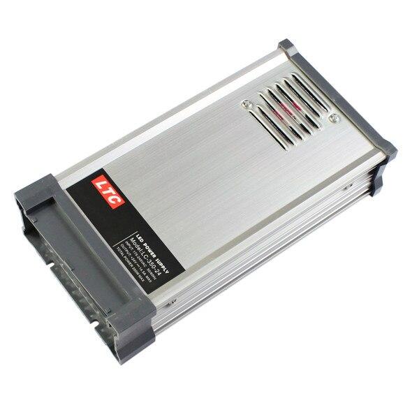 Impermeable fuente de alimentación LTC LC-24-350W 175-240 V a 24 V 14,5 AEnergy eficiente a prueba de lluvia de conmutación LED fuente de alimentación-plata