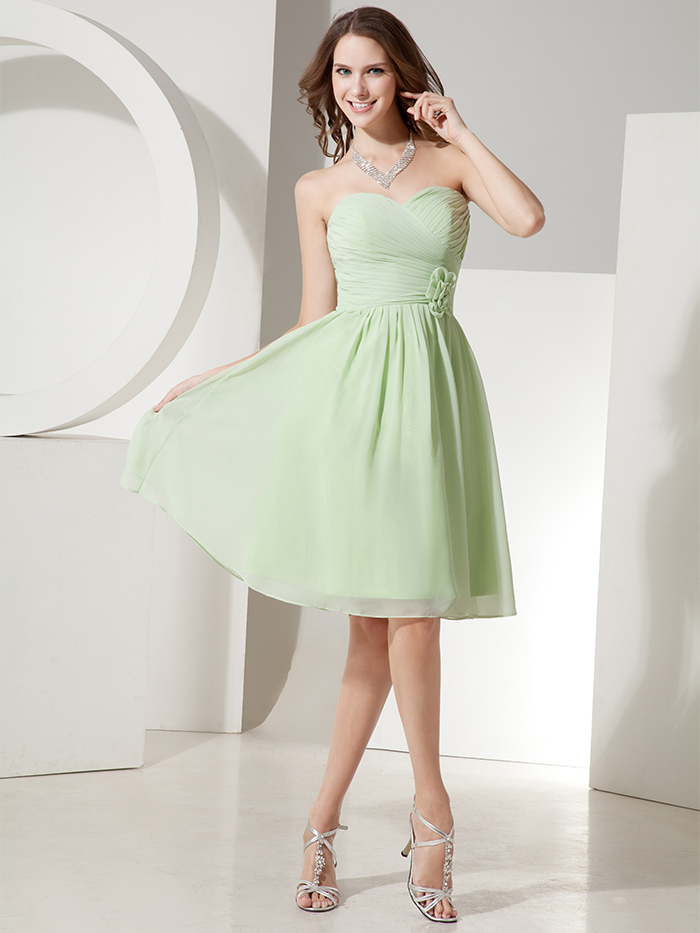 Juniors Knee Length Chiffon Dress