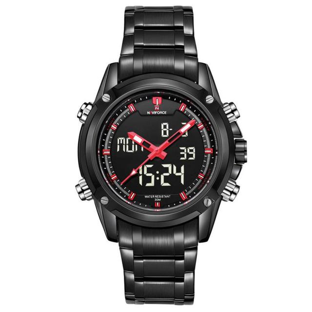 Creative Military reloj de pulsera Sports Men's Alonge display Multi-function Stainless Steel Mens Watches,top quaility watch