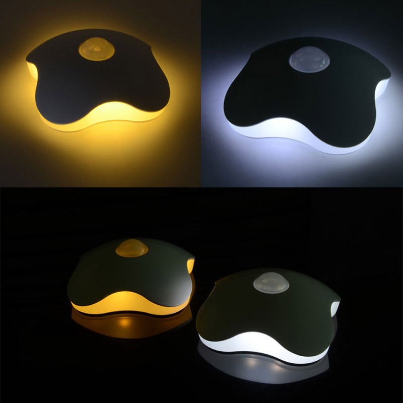 PIR Intelligent LED Human Body Motion Induction Lamp Motion Sensor Night Four Leaf Clove ...