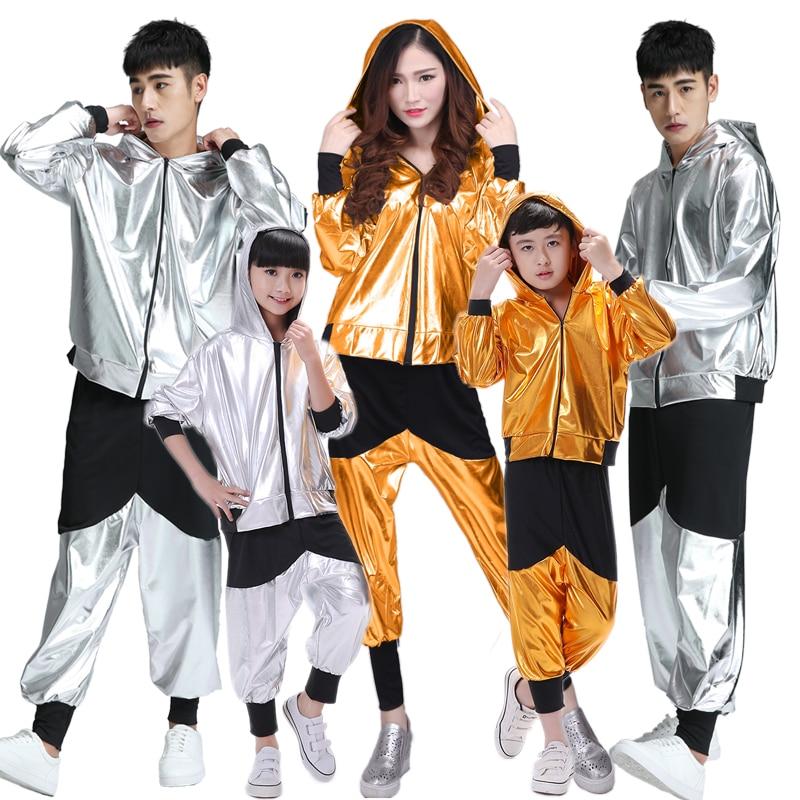 Hip Hop Costume, Children, Men And Women, Modern Jazz Dance, Adult Loose Long Sleeve Students,hip Hop Performance, Dance Costume