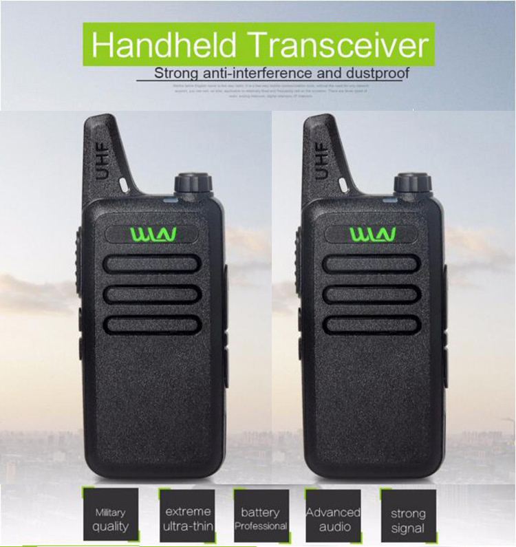 Ultra Thin Mini Walkie Talkie WLN KD C1 Long Range Professional Handheld Transceiver UHF Two Way