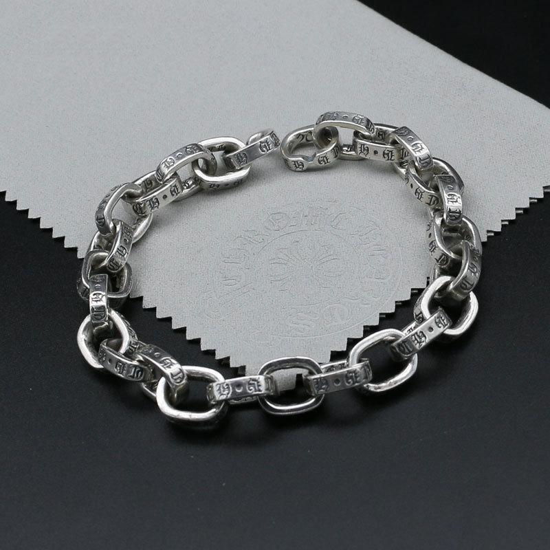 цена на Starfield CH Jewelry S925 Sterling Silver Bracelet Men Simple Punk Retro Thai Silver Bracelet Women