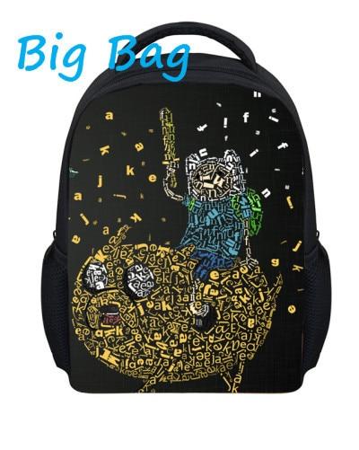 Free shiping Fashion custom adventure time backpack cartoon school bag backbag student/ teenagers/school Bag