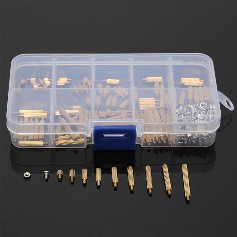 Wholesale Price 270pcs/Set Brass M2 3-25mm Male to Female Brass Standoff Screw Nut Assortment Kit Set