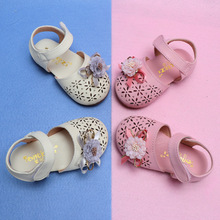 Summer New Baby Girl Cut-out Sandal Shoes Toddler Kids Party Anti-slip Flower Bow Flat Enfants Size 15-25