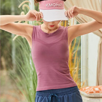 dc7e4d980a Women Slim Fit Yoga Shirts Running Sport Sleeveless Vest Dry Quick  Breathable Tops Gym Fitness Tank