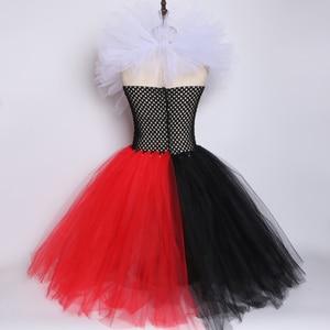 Image 3 - 검은 색과 빨간색 여왕 하트 투투 드레스 앨리스 카니발 할로윈 코스프레 의상 여자 아이 생일 파티 드레스 2 12 년