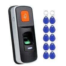 RFID Standalone Fingerprint Reader 125KHz EM Controller Lock With Doorbell For Door Access Control Entry System