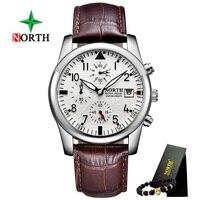 2018 New North Brand Fashion Men S Watch Luminous Quartz Leather Casual Men S Watch Clock