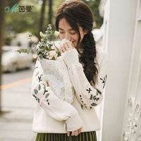 INMAN 2018 New Products Women Spring Clothes Embroidered Long Sleeves Womens Sweaters Pullovers Loose Womens Sweaters