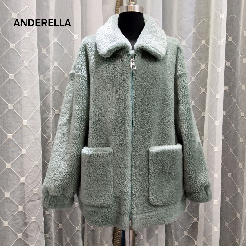 302dbc6949c Natural Real Wool Fur Coat Winter Teddy Bear Plus Size Sheep Shearling Women  Clothes Thick Warm Pink 2018 Abrigo Mujer Invierno