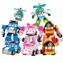SLPF Children Toys Puzzle DIY Legoing Plastic Assembled Building Blocks Deformation Robot Car Educational Boy Girl Toy Model B02 deformation toys king kong 4 league level ground lamp robot car model children toy boy gifts