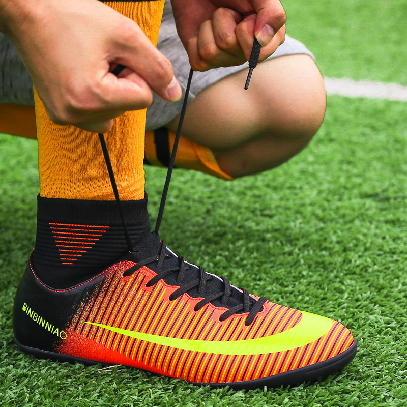 High Feet Buy Cheap Football Shoes Outdoor English,youth Professional Mens Soccer Shoes,minced Sports Shoes,mens Football Boots Good Reputation Over The World Boys
