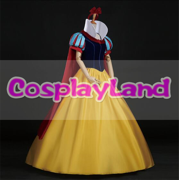 custom made snow white Adult Halloween Princess cosplay costume headband dress