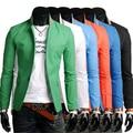 2016 Nova Designer Mens casual Slim Fit Blazer Casacos Blazers Elegantes Homens Jaqueta M-3XL 6 Cores Terno Masculino HY829