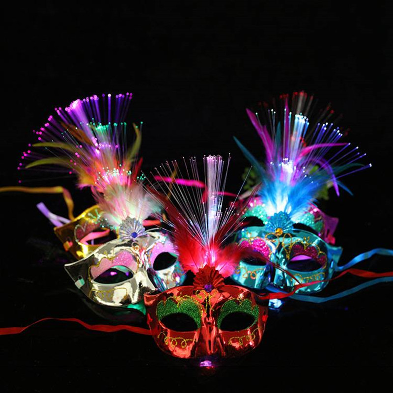 Good 1pc Led Mask Atttractive Luminous 7 Colors Dust-proof Bright Light Up Mask Rave Mask For Party Women Men Halloween Men's Masks