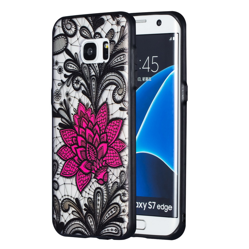 Retro <font><b>Sexy</b></font> Lace Flower Mandala <font><b>Case</b></font> For Samsung Galaxy Note 9 8 S6 S7 Edge S9 <font><b>S8</b></font> Plus A6 A8 J4 J6 J8 2018 J3 J5 Prime J7 2017 image