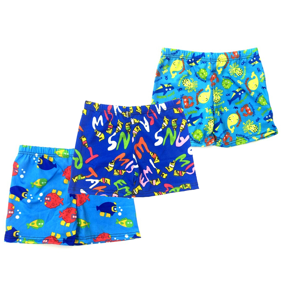 1PCS Beach Swimwear Shorts Ages 3 To 8 Boys  Baby Kid Child Swimming Trunks Swimsuit Summer Swim Wear Cartoon Printed Toddler