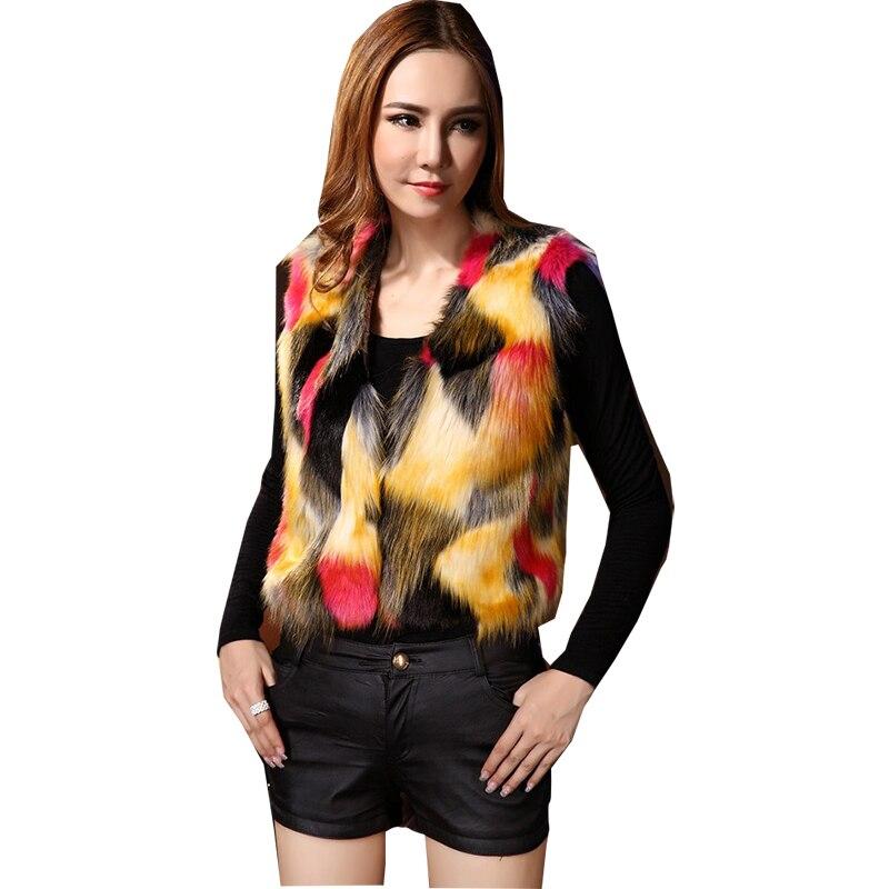 2021 colete de pele curto com decote em v colorido comércio exterior casacos outono e inverno venda quente moda estilo mex vestidos bcd1507086