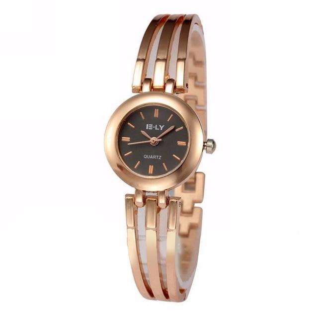 bc3f6f79a04 Garra Das Mulheres elegantes Senhoras Pulseira Relógios de Pulso Rodada  Moda Feminina Quartz Analógico Dress Watch