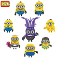LOZ MINI Minions Blocks Assemble Plastic Educational DIY Toys Model Christmas Birthday Gifts For Children