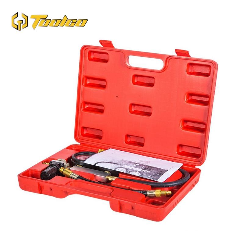 0 100PSI Cylinder Leak Tester TU 21 Compression Leakage Tester Detector Kit Set Petrol Engine Gauge Tool Set Automobile Tools in Pressure Gauges from Tools