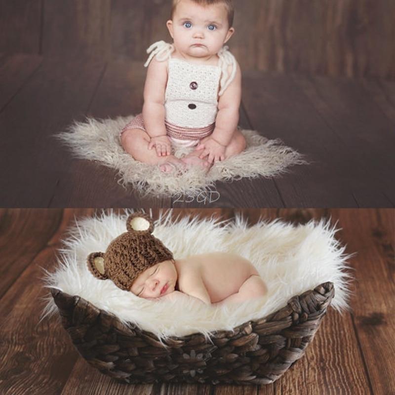 2017 Cute Photography Newborn Photographic Backdrops Newborn Props Blanket Basket Stuffer   MAY11_35