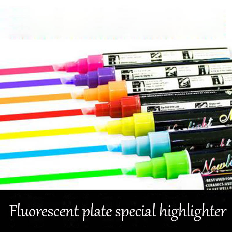 1Pcs Liquid Chalk Erasable Highlighter Fluorescent Marker Pen Colorful Art Painting For Whiteboard LED Chalkboard School