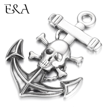 Stainless Steel Anchor Skeleton Pirate Pendant Bracelet Hook Charms DIY Jewelry Making Parts Necklace Pendants Findings Supplies