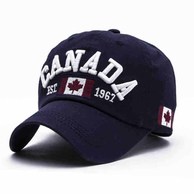 2019 Cotton Gorras Canada   Baseball     Cap   Flag Of Canada Hat Snapback Adjuatable Mens   Baseball     Caps   Brand Snapback Hat