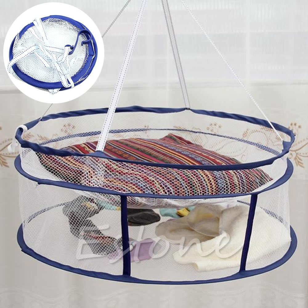 Drying Rack Folding Hanging Clothes Laundry Sweater Basket Dryer Net
