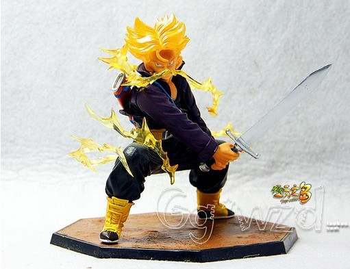 Free Shipping BANDAI Soul Dragon Ball Z Super Saiyan Vegeta Son Trunks Figuarts Zero Super Saiyan Trunks DBZ Bandai Tamashii