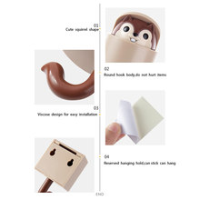 Hat Cute Accessories Telescopic Door Hook Home Wall Decoration Key Self Adhesive Clothes Coat Squirrel Bathroom Kitchen(China)