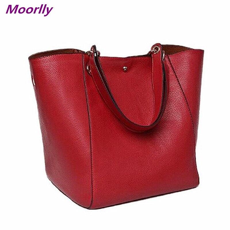 b36820d9bdcd Moorlly Female Leather Bag Ladies Black crossbody Shoulder Bag Designer  Handbags Bolsas Feminina Bags Handbags big tote bags